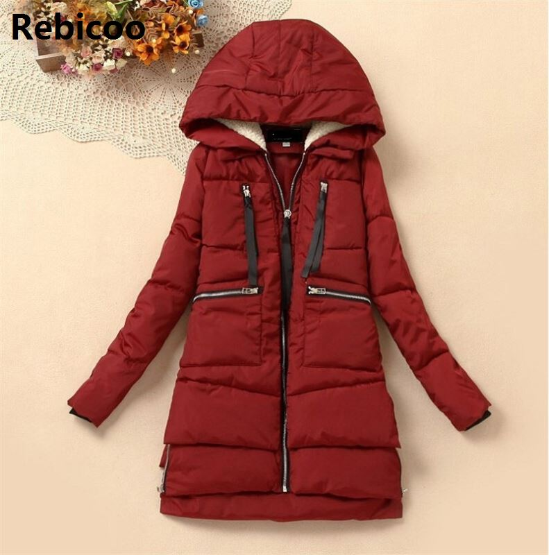 New 2019 Winter Coat Women Thickening Wadded Jacket Parkas Female Outerwear Casual Down Cotton