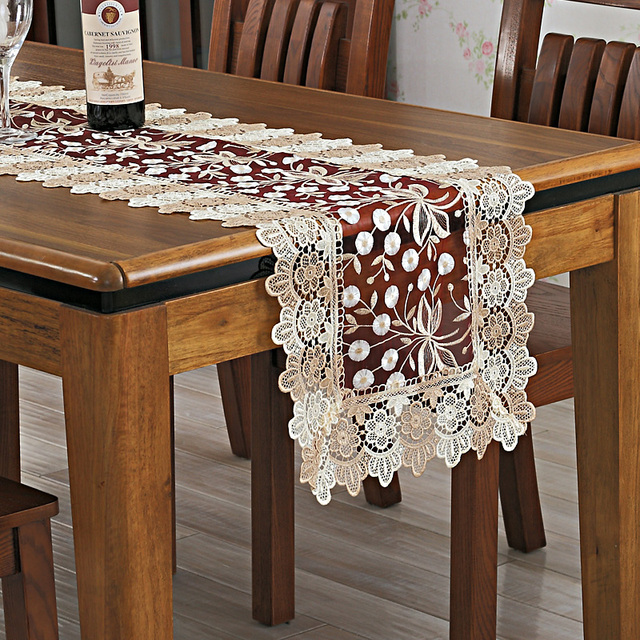 Beau Lace Tablecloth Table FLAG Embroidered Table Cloth Table Cloth Towel Towel  Cabinet Cover Towels Hollow TV Cabinet Cloth