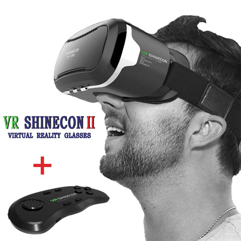 2017 <font><b>Google</b></font> <font><b>cardboard</b></font> <font><b>VR</b></font> <font><b>BOX</b></font> <font><b>VR</b></font> shinecon <font><b>ii</b></font> <font><b>2.0</b></font> Pro Leather Virtual Reality 3D Glasses <font><b>VR</b></font> Headset movie + <font><b>Original</b></font> Control Game