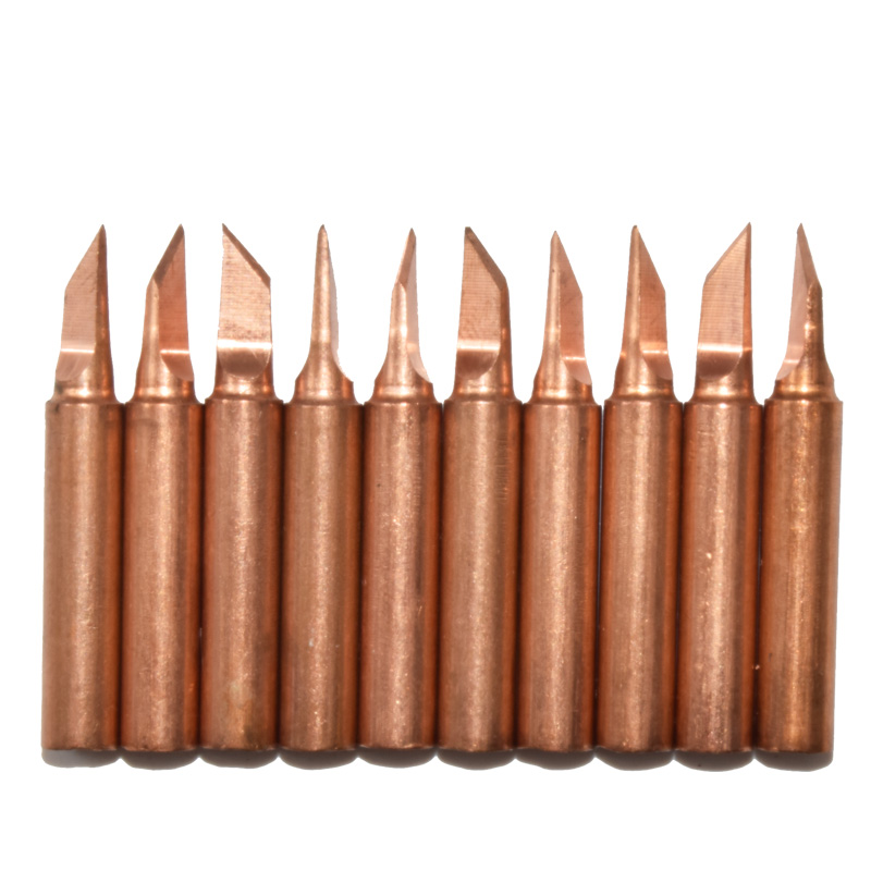 10pcs soldering tip set for solding iron 900m copper iron tips lead free low temperature. Black Bedroom Furniture Sets. Home Design Ideas