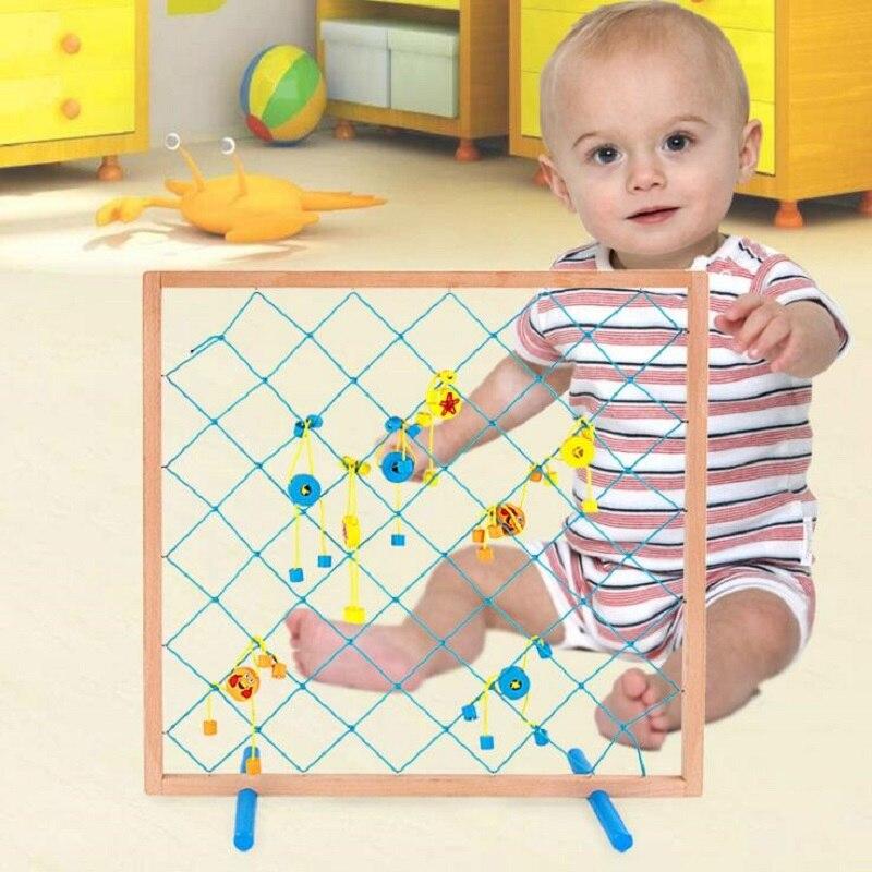 Fly AC jouets en bois pêche drôle filet de pêche enfants jeu de puzzle jouets pour enfants cadeaux d'anniversaire
