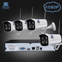 ZSVIDEO Surveillance System Security Camera Wireless Home Outdoor Motion 1080P Full HD Night Vision Alarm NVR