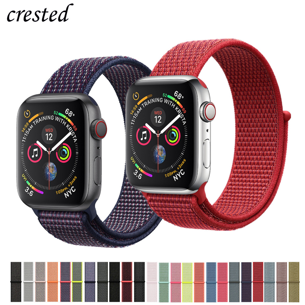 789070d5ac8 Sport loop strap for apple watch band 4 3 iwatch band 42mm 38mm 44mm 40mm  bracelet belt Nylon watchband+adjustable hook clasp