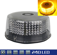 Round 240LED Magnetic Light Car Beacon Roof Top Emergency Hazard Strobe Light Red Yellow Blue White