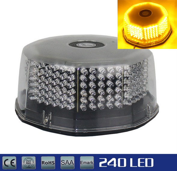 240 LED Truck Car Rooftop Round Flash Strobe Warning Hazard Light Bulb