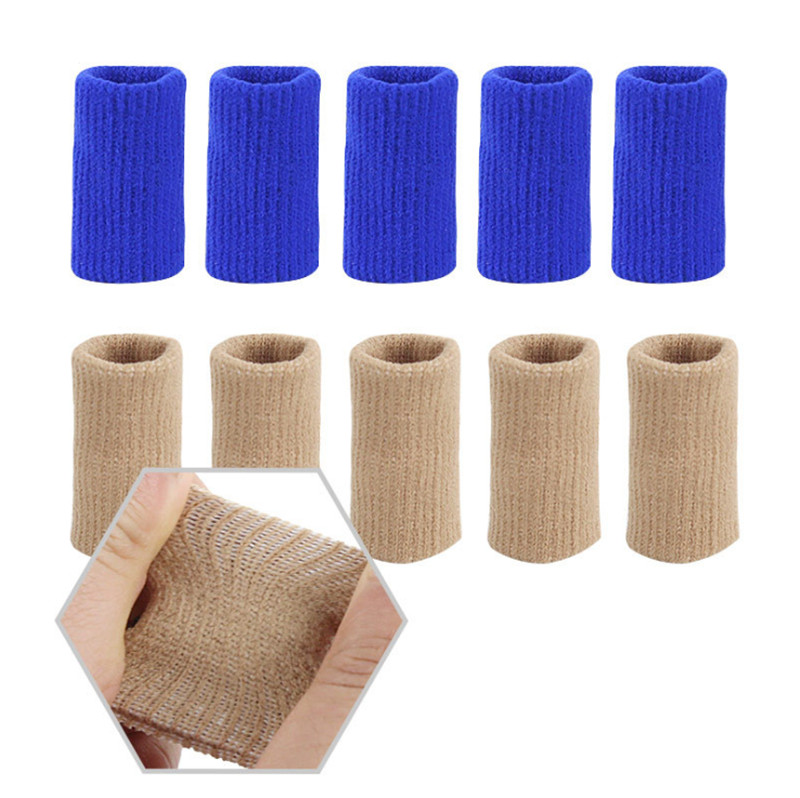 10 Pcs/sets Volleyball Finger Protector For Basketball Finger Guard Stretchy Thumb Sweatband Sleeve Arthritis Support Sports Aid