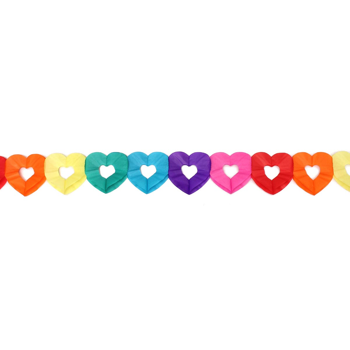 Rainbow colours Hanging Paper Chain Flower Wedding Birthday Party