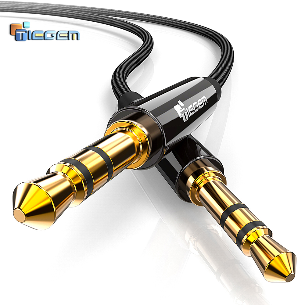 Tiegem 3.5Mm Jack Audio Cable Gold Plated 3.5 Mm Male To three.5Mm Male Aux Cable For Iphone Automotive Headphone Speaker Auxiliary Cable