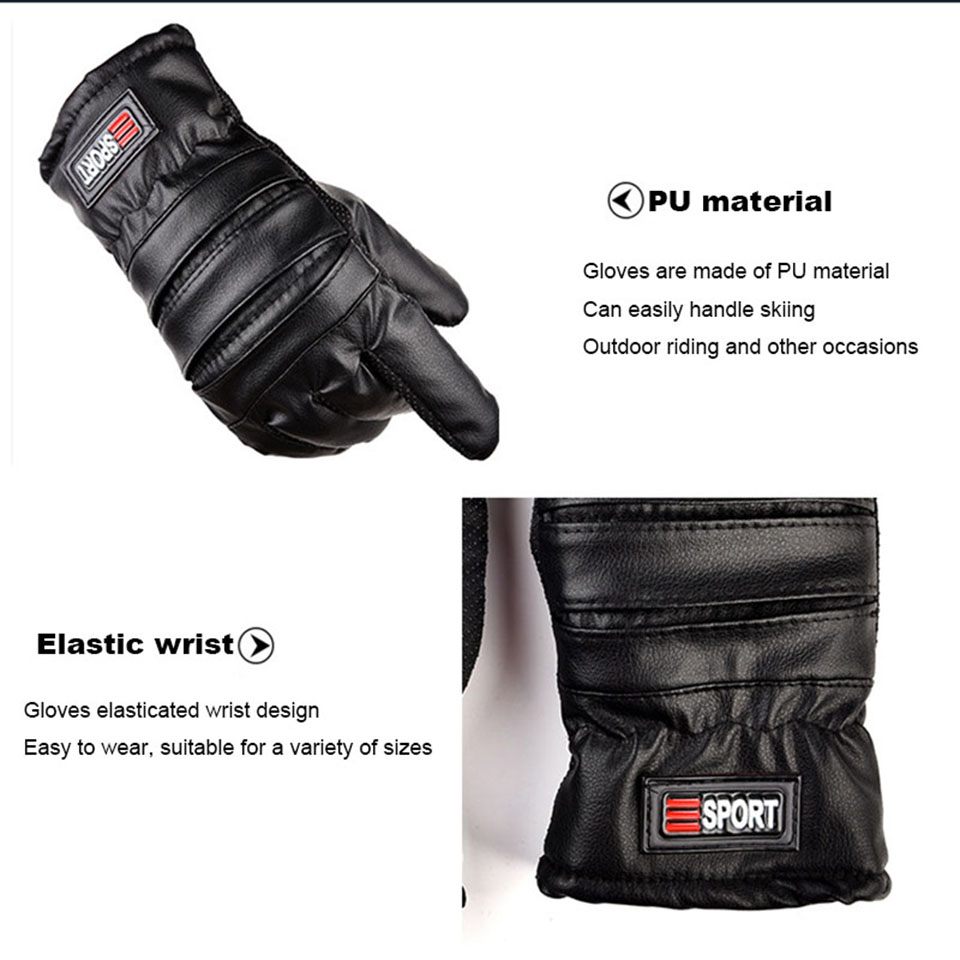winter gloves mens thermal Waterproof Windproof touch screen Outdoor cycling Non-slip wear ski Snowboarding gloves (2)