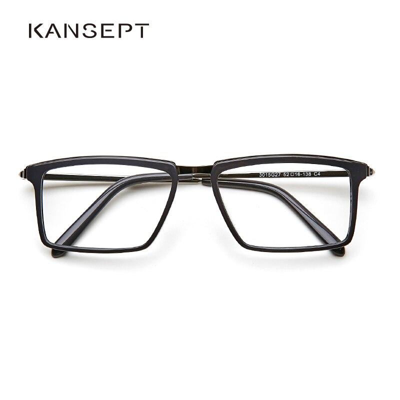 Glasses Frames Men Acetate Eyeglasses Frame Optical Eyewear Black Retro Rectangle Spectacle Frames Male #3015G27C4