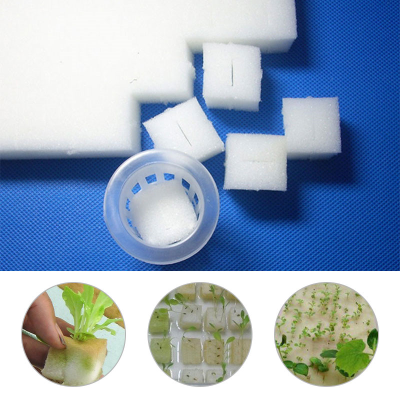 100Pcs/Set Soiless Hydroponic Gardening Plant Tools Planted Sponge Vegetable Cultivation System Seed Trays