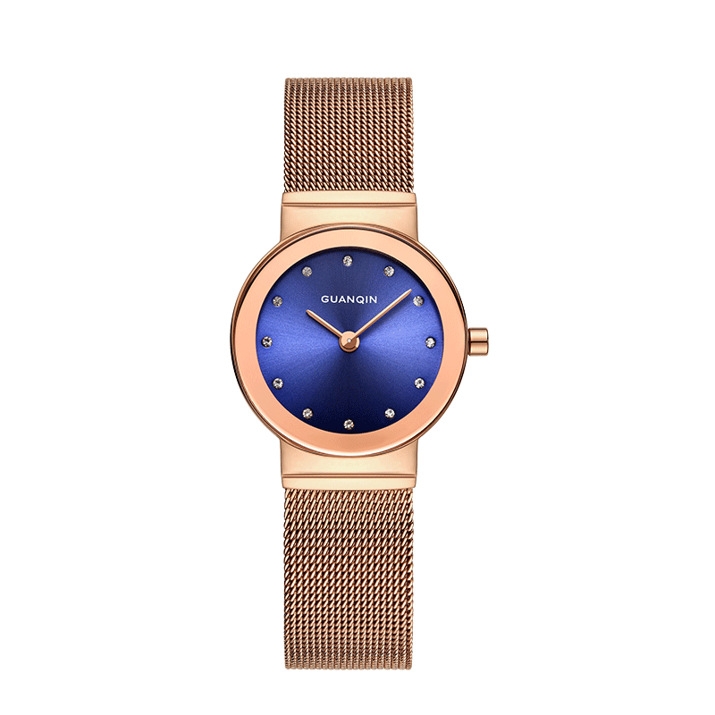 GUANQIN GS19062 watch women luxury brand Quartz Casual Watch for Woman Full Stainless Steel Rosefie Xfcs Watch Relojes Hombre relojes full stainless steel men s sprot watch black and white face vx42 movement