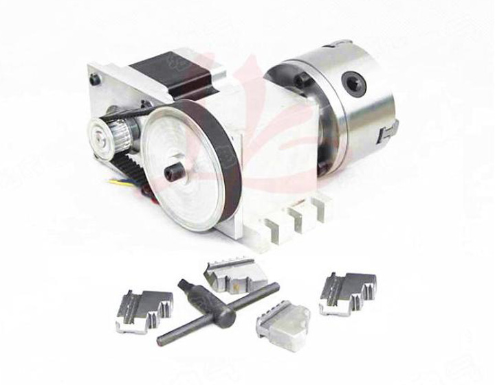 Rotary axis 5M-3-100B  100mm 4 jaw chuck for cnc router 100% 4 5