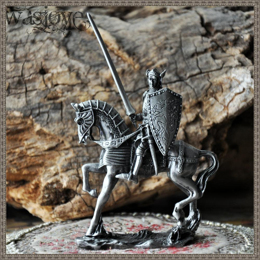 Classical European Tin Warrior Soldier on Horseback Home Club Table Decoration Gift OrnamentsClassical European Tin Warrior Soldier on Horseback Home Club Table Decoration Gift Ornaments
