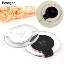Besegad Qi Wireless Charger Pengisian Power Pad untuk Samsung Galaxy S8 Plus S7 S6 Edge Note 5 Google Nexus 5 6 7 Sony HTC(China)