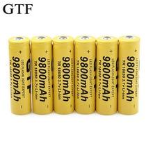 GTF 18650 Battery 3.7V 9800mAh Li-ion Rechargeable Batteria For LED Flashlight Torch Accumulator Toys Batteries