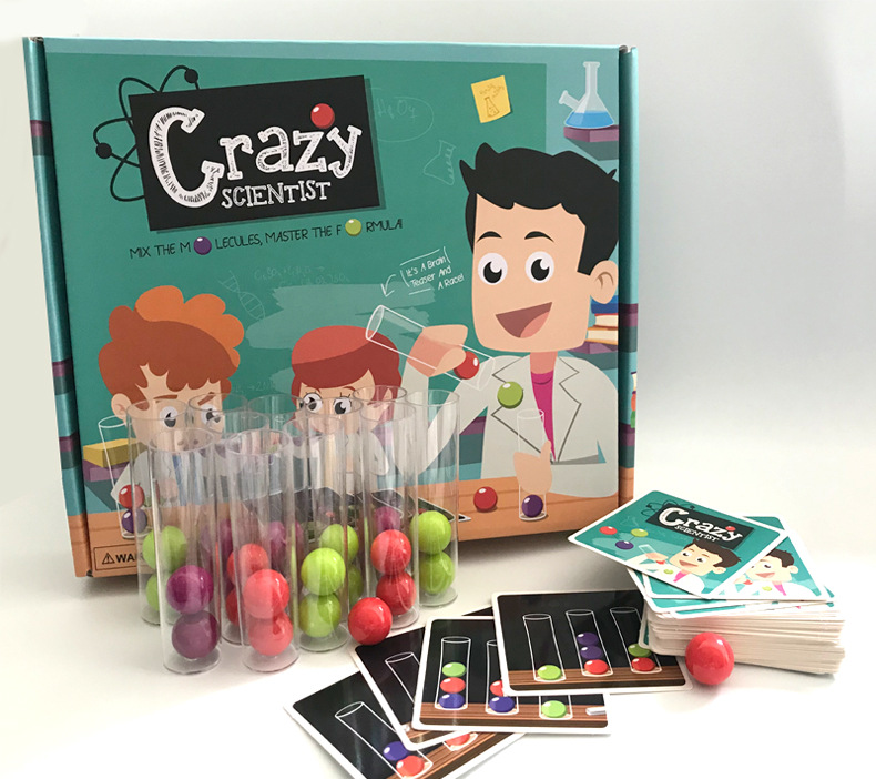 Crazy Scientist Board Game Test Tube Set Logical Thinking  Gags & Practical Jokes Toys