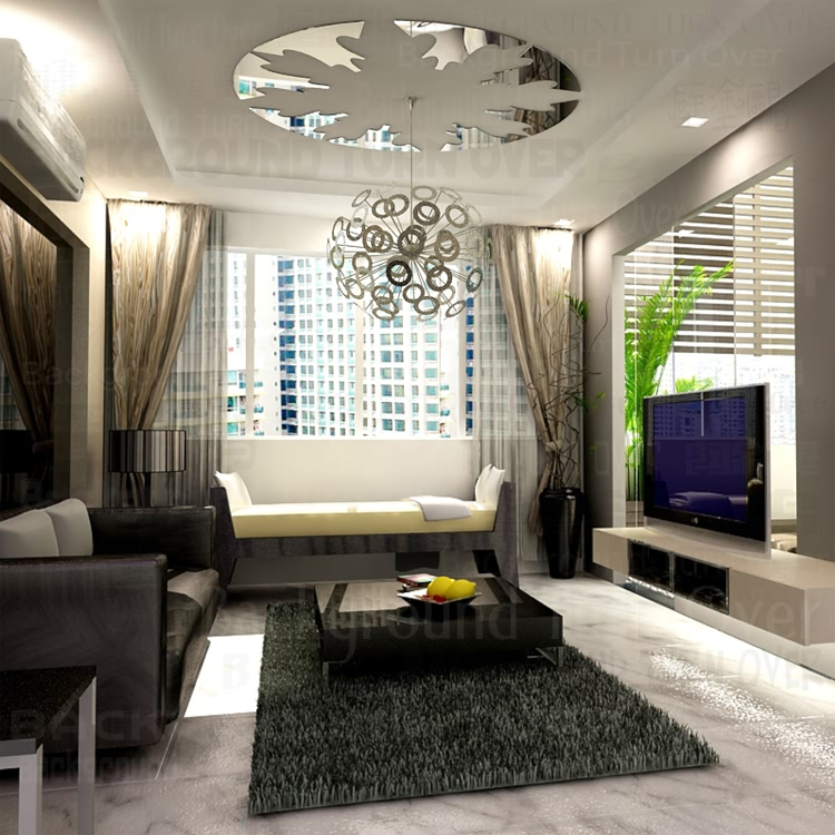 Mordern Design Reflective Round Ceiling Stickers Living Room Bedroom Decoration 3d Acrylic Mirror Wall