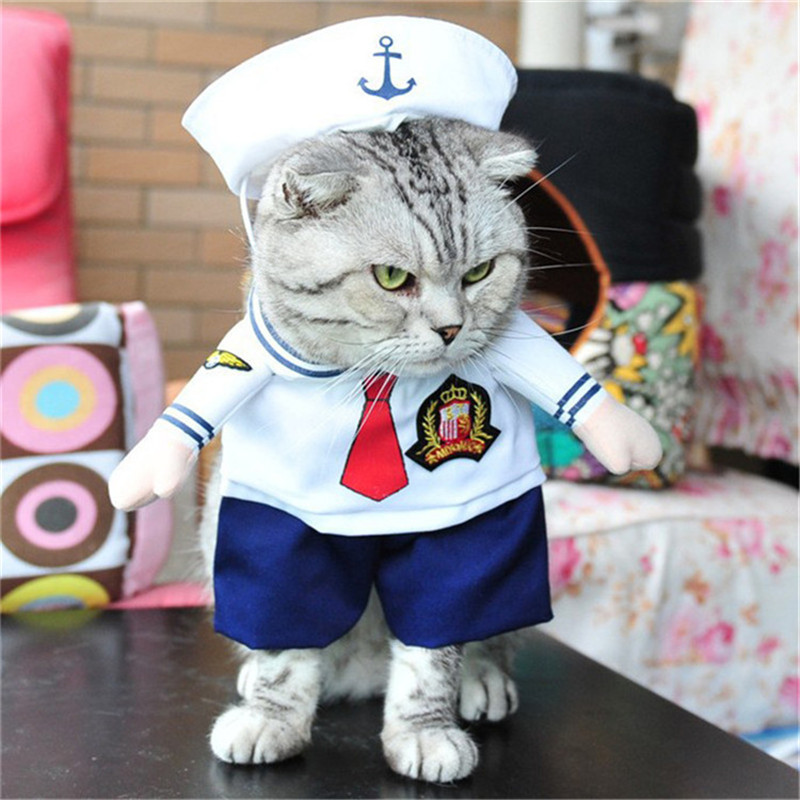 Traumdeutung Funny Cats Clothes Pets Dress Cosplay Costume For Small Dogs Clothing Funny Outfit Clothing hundebekleidung
