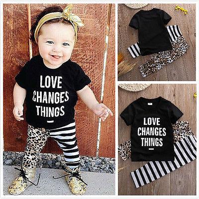 fc62b2b90 2017 verano moda ropa bebé niña ropa infantil algodón moda carta camiseta +  Pantalones 2 piezas recién nacido Niño ropa de bebé conjunto en set de ropa  de ...