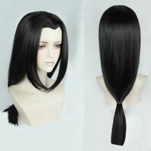 Аниме Наруто Учиха Итачи 60 см, длинный черный стиль, OW Hanzo Шимада, термостойкий парик для волос + шапочка для парика