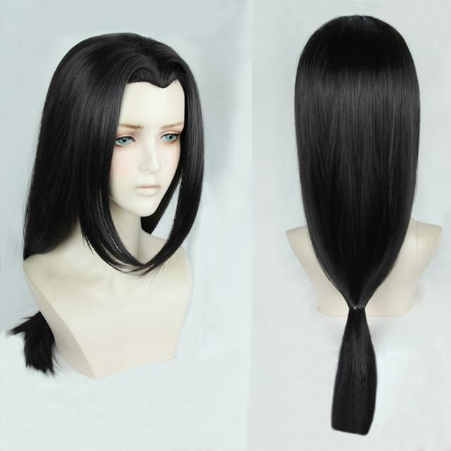 Anime Naruto Uchiha Itachi 60cm Long Black Styled OW Hanzo Shimada Heat Resistant Hair Cosplay Costume Wig + Free Wig Cap