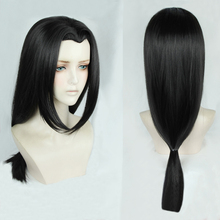 Anime naruto Uchiha Itachi 60cm długi czarny stylizowany OW Hanzo Shimada żaroodporne włosy przebranie na karnawał peruka + darmowa peruka Cap