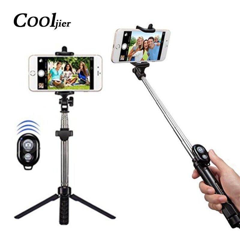 Mobile Téléphone Bluetooth Sans Fil Selfie Bâton Pour iPhone X 8 7 plus Télécommande De Poche Manfrotto Pliable Mini Obturateur Remoter Trépied