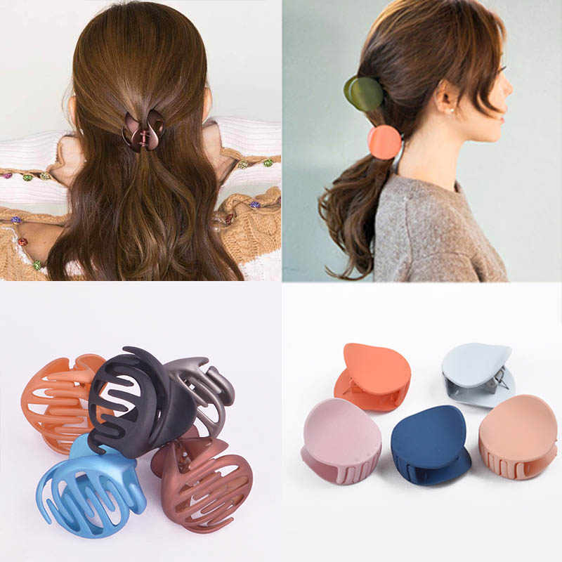 Korean Style Women Ladies Hair Clips For Girls Hair Claw Acrylic Barrettes Hair Crab Clamp Hair Accessories Vintage clip irls