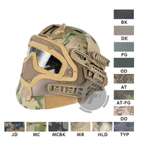 Emerson EXF Bump Padded Helmet with Goggle Rail 2.0 Mounting EmersonGear Head Protective with Side rail / NVG Shroud AIRSOFT