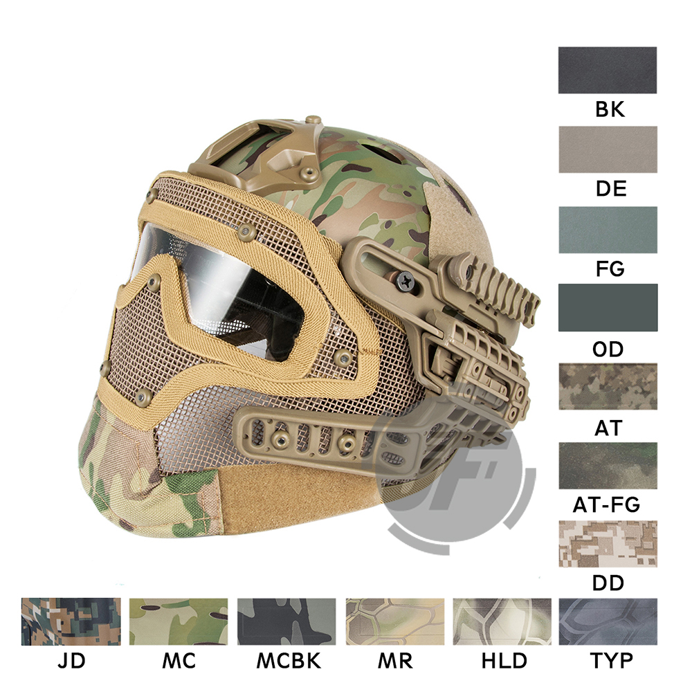 EXF Bump Padded Helmet with Goggle Rail 2.0 Mounting EmersonGear Head Protective with Side rail / NVG Shroud AIRSOFT