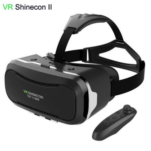 "New VR Shinecon II 2.0 Helmet Cardboard <font><b>Virtual</b></font> <font><b>Reality</b></font> <font><b>Glasses</b></font> <font><b>Mobile</b></font> <font><b>Phone</b></font> 3D Video Movie <font><b>for</b></font> 4.7-6.0"" Smartphone with Gamepad"
