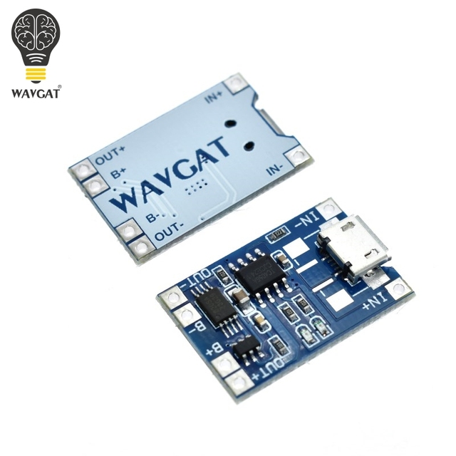 5 pcs Micro USB 5V 1A 18650 TP4056 Lithium Battery Charger Module Charging Board With Protection Dual Functions 1A Li-ion 1