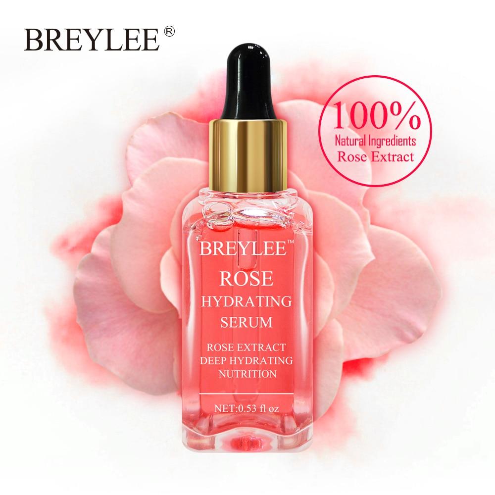 Hot Sale BREYLEE Rose Nourishing Vitamins Serum Hydrating Face Skin Care Whitening Soothing 100% Natural Ingredient Beauty Care
