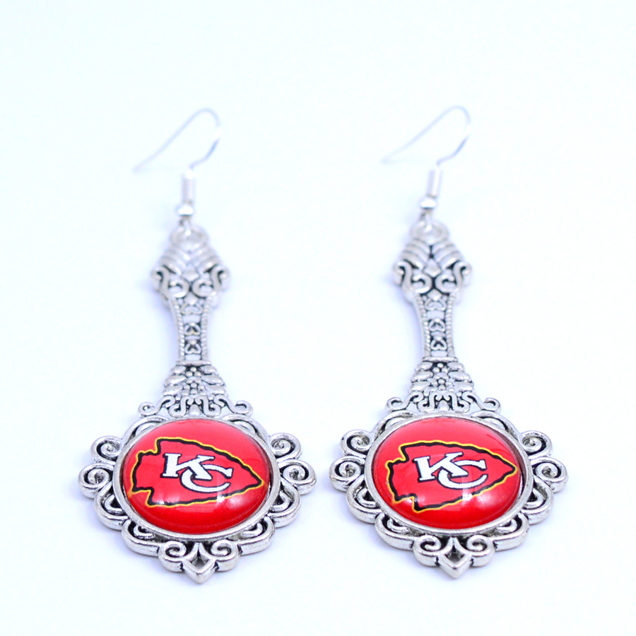 Earrings Kansas City Chiefs Charms Dangle Earrings Sport Earrings Football Jewelry for Women Birthday Party Gift 5 pairs