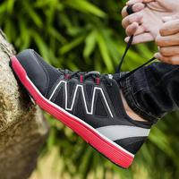 Обувь с дышащей сеткой Для мужчин Сталь носком Кепки безопасная обувь свет Вес рабочие ботинки