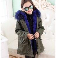 WENDYWU/Новое поступление пальто Детская натуральный кроличий мех Мех животных пальто зимнее Обувь для девочек теплое пальто детские парки ре