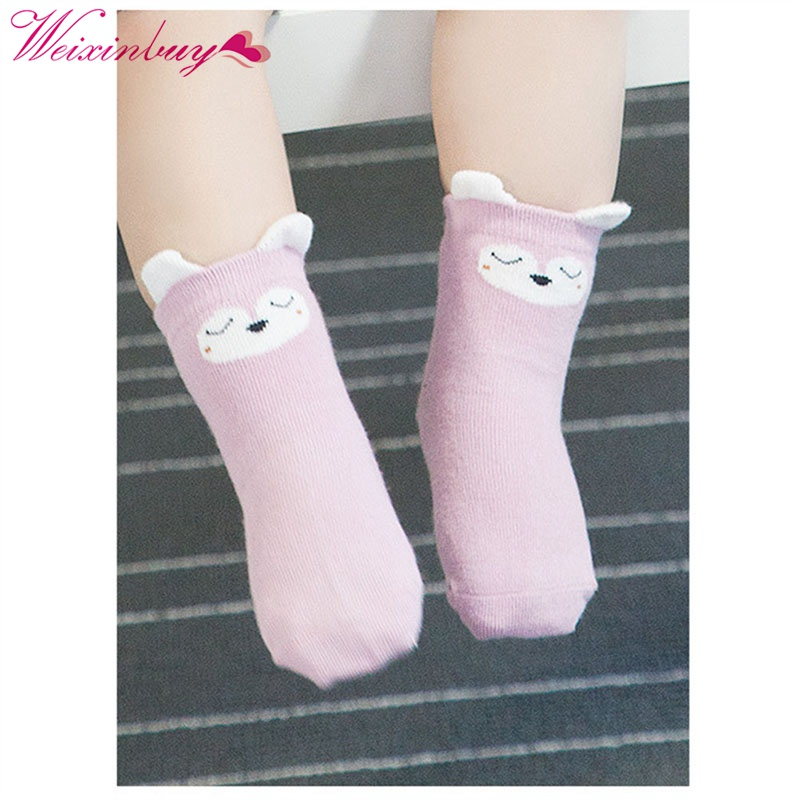 Cotton Printed Cotton Knee Cute Baby Socks Winter Fall Cute Boys Girls Socks 5 Pcs/Set
