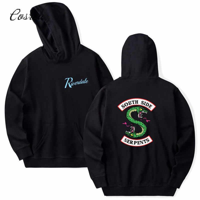 Riverdale South Side Serpents Hoodie Sweatshirts SouthSide Funny Cartoon Print Women/Men Hooded Pullover Tracksuit Female
