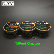 E XY 5m roll 32G 24 26 28G Clapton Wire Heating Wire For RDA RBA RTA