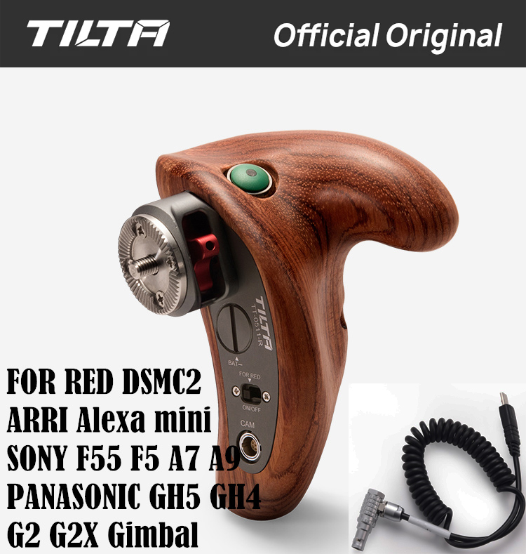 TILTA TT 0511 R Right Side Wooden Handle 2 0 with REC Trigger Right Button For