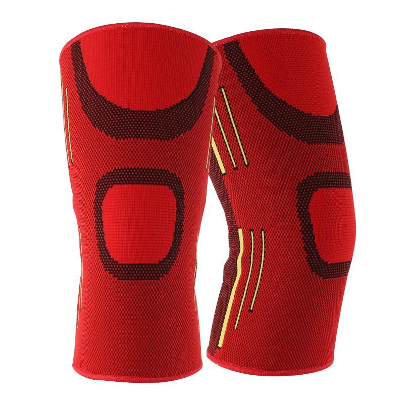 1 Pair Men Knee Pads Elastik Sport Këmbë Mbështetëse Mbështetëse Mbështetëse Mbrojtëse Patella për Basketboll Drejtimin Tenis Fitness