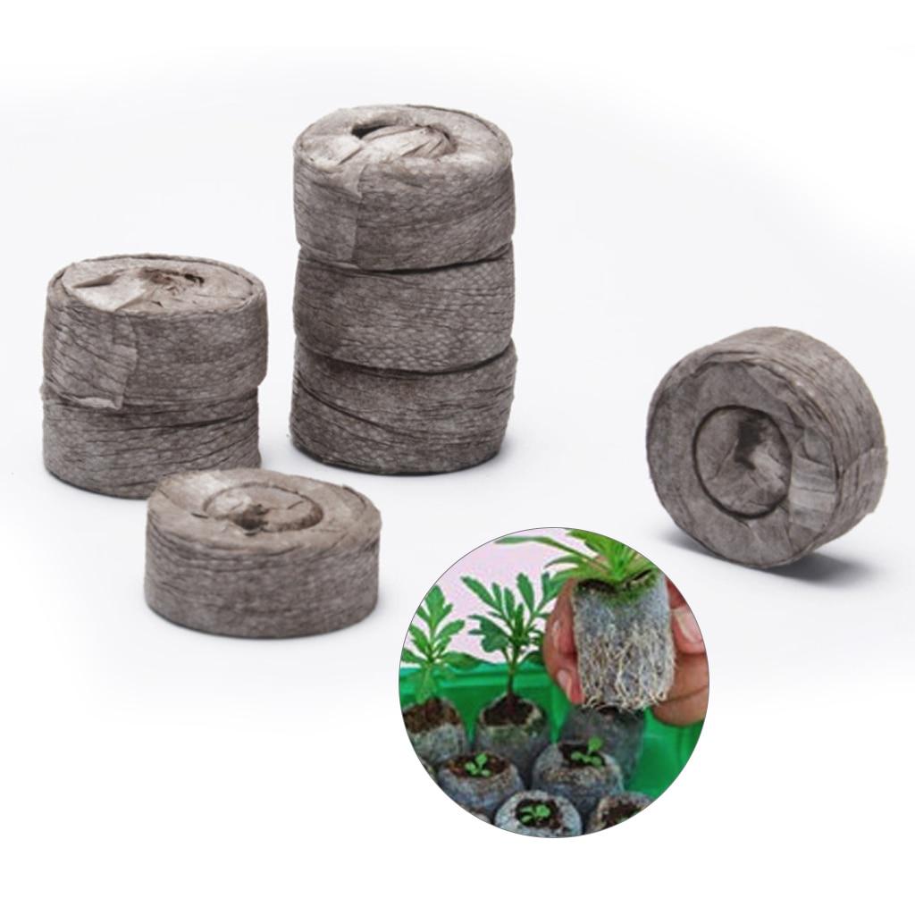 100pcs 30mm Peat Pellets Seed Starting Plugs Seeds Starter Round Pallet Seedling Soil Block Garden Plant Compressed Block Tool