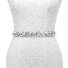 JLZXSY fait à la main fleur Design strass ceinture de mariage demoiselle dhonneur robe de soirée ceinture accessoires de mariage Brida ceinture
