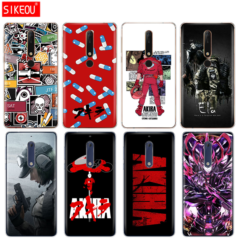 Self-Conscious Silicone Cover Phone Case For Nokia 5 3 6 7 Plus 8 9 /nokia 6.1 5.1 3.1 2.1 6 2018 Akira Voltron Rainbow Six Siege Yugioh Easy To Repair Phone Bags & Cases
