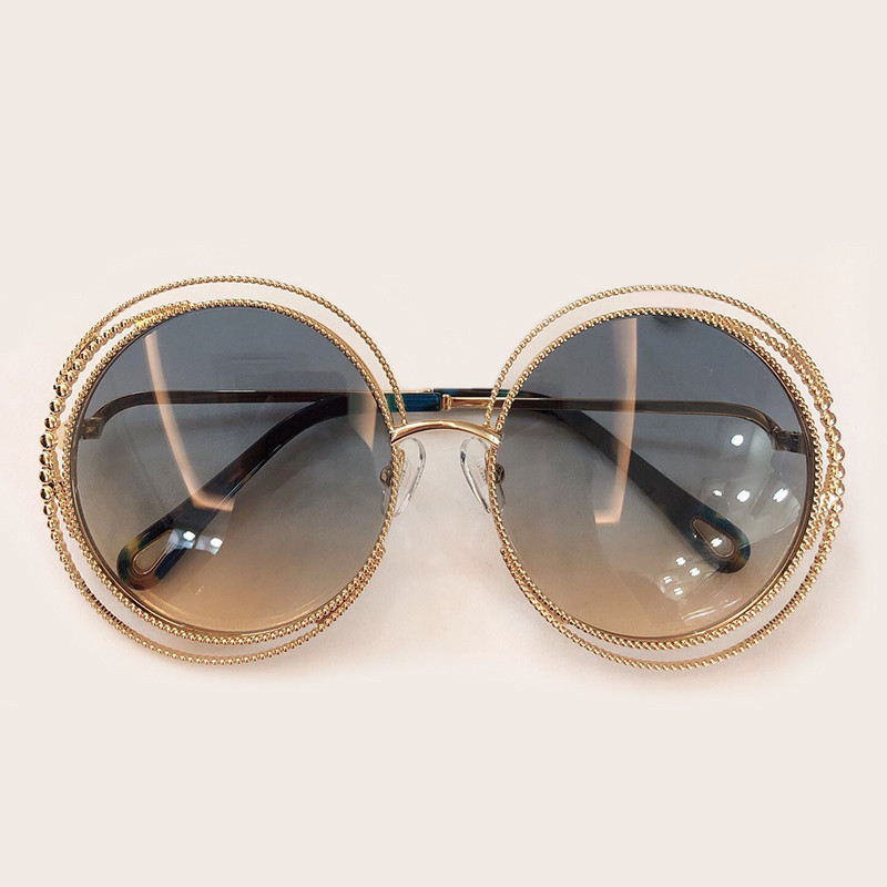 Image 3 - New Style Round Sunglasses Women Luxury Brand Designer Big Metal Frame Sun Glasses Female Shades 2019 Fashion Outdoor Eyewear-in Women's Sunglasses from Apparel Accessories