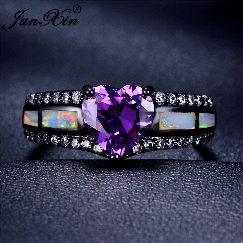 White Opal Purple