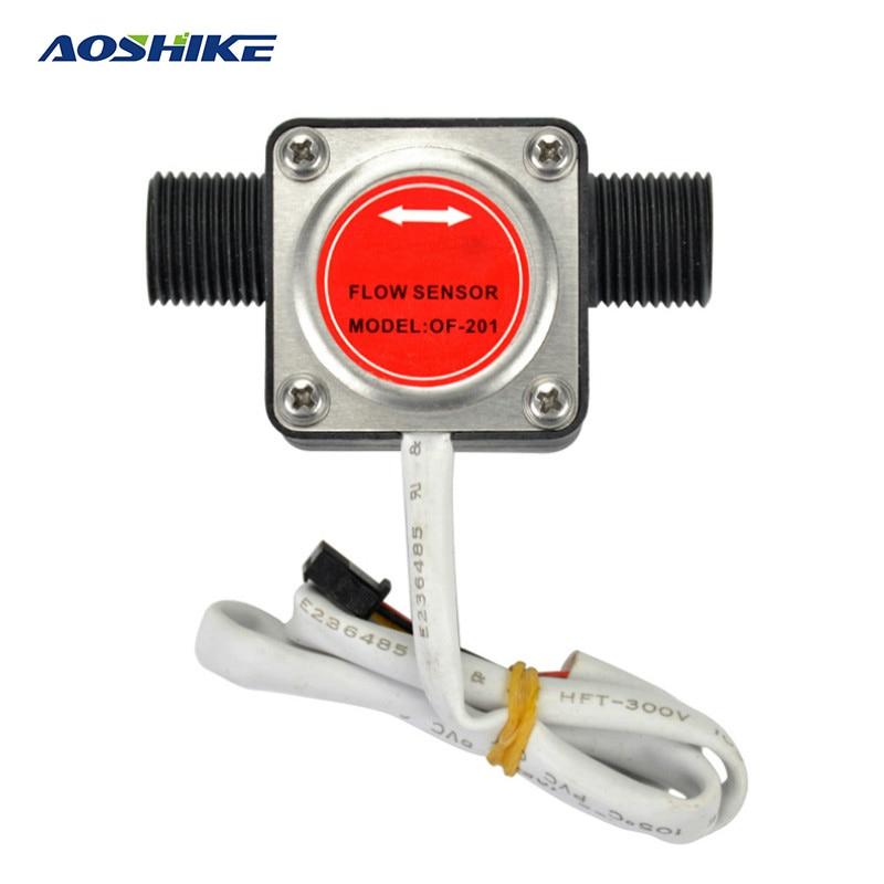 AOSHIKE 1pcs G1/2 Oval Gear Flowmeter Oil Flow Sensor Hall Flow Meter Water Liquid Gear Flow Sensor Flow Meter Counter  цены