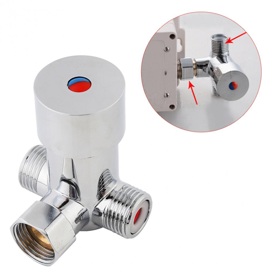 G1/2 Hot Cold Water Mixing Valve Valver Thermostatic Mixer Adjustable Temperature Control For Bathroom Shower Head Faucet Tap