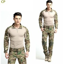 Best selling Multicam Combat Uniform Gen3 shirt + pants Military Army Suit with knee pads
